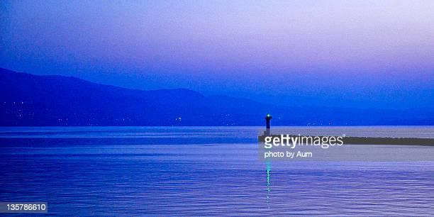 beppu harbor at dawn, japan - 別府市 ストックフォトと画像