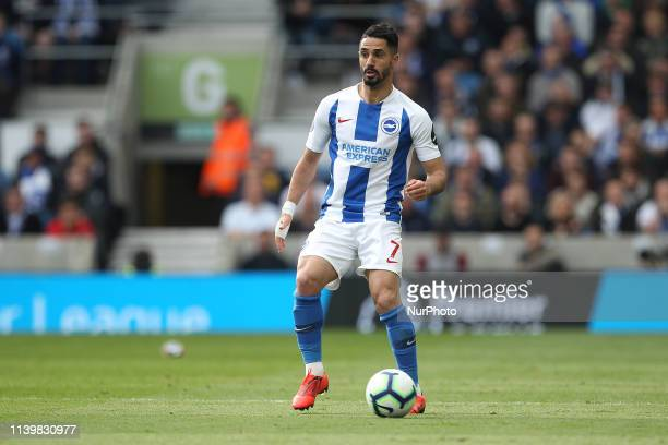 Beram Kayal of Brighton amp Hove Albion during the Premier League match between Brighton and Hove Albion and Newcastle United at the American Express...
