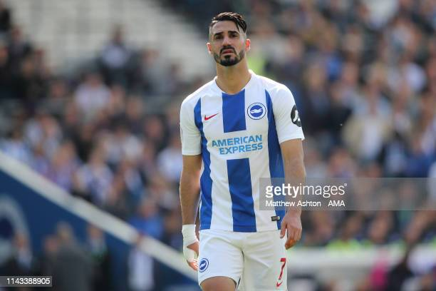 Beram Kayal of Brighton and Hove Albion during the Premier League match between Brighton Hove Albion and Manchester City at American Express...