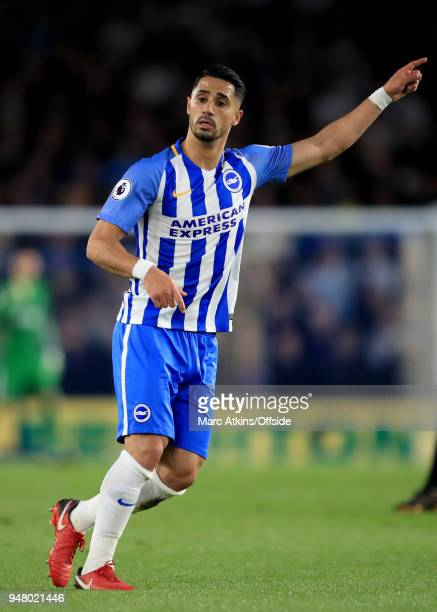 Beram Kayal of Brighton and Hove Albion during the Premier League match between Brighton and Hove Albion and Tottenham Hotspur at Amex Stadium on...