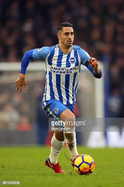 Beram Kayal of Brighton Hove Albion in action during the Premier League match between Brighton and Hove Albion and Chelsea at Amex Stadium on January...