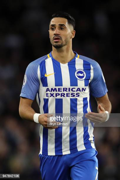 Beram Kayal of Brighton Hove Albion looks on during the Premier League match between Brighton and Hove Albion and Tottenham Hotspur at Amex Stadium...