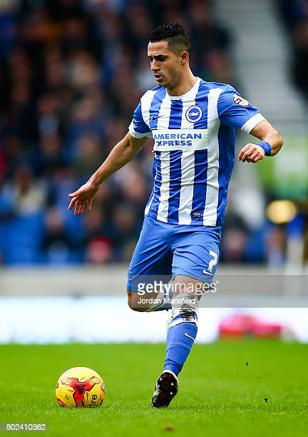 Beram Kayal of Brighton in action during the Sky Bet Championship match between Brighton and Hove Albion and Middlesbrough at The Amex Stadium on...