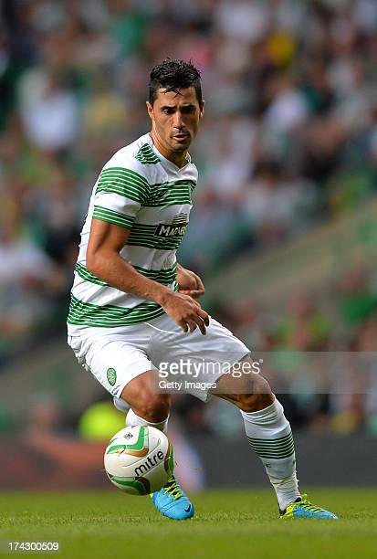 Beram Kayal of Celtic during the UEFA Champions League Second Qualifying Round Second Leg match between Celtic and Cliftonville at Celtic Park...