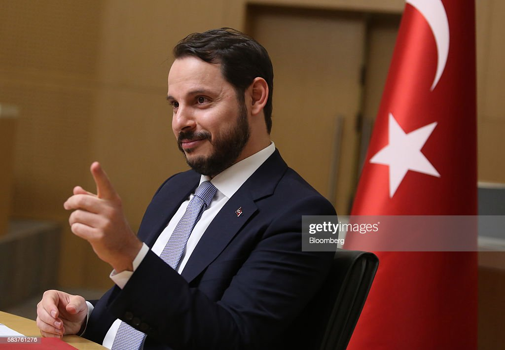 Turkey's Energy Minister Berat Albayrak News Conference