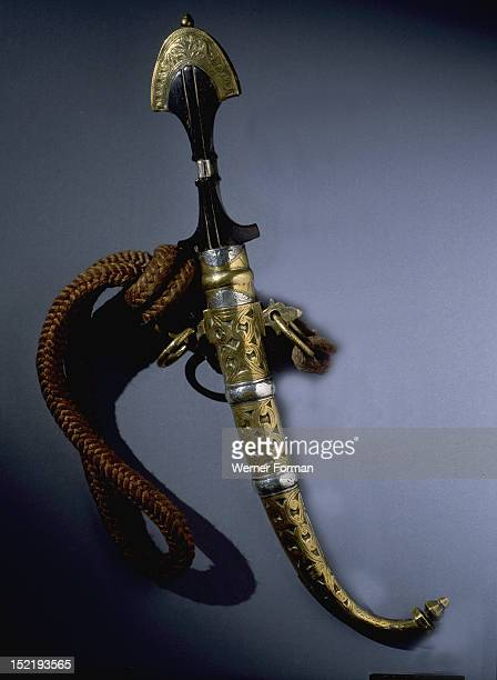 Berber dagger from the South of the High Atlas Mountains Ornamental daggers in Morocco have grown out of the intermingling of Moorish Arabic and...