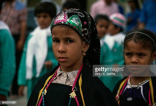 Berber girls during Independence Day celebrations El Oued Algeria