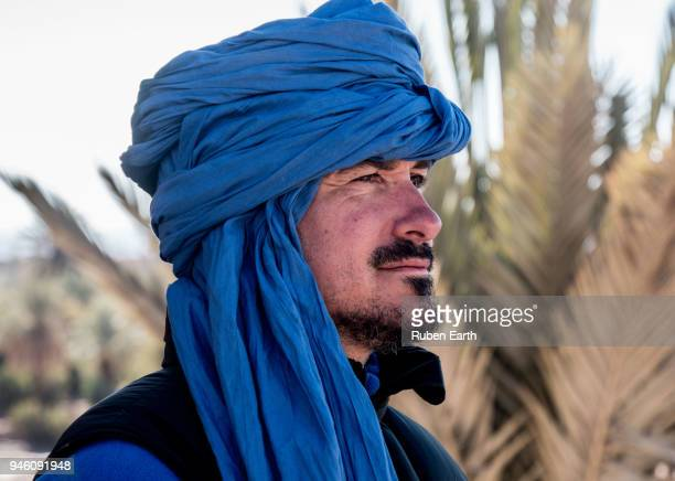 Berber man dressed with a turban in Morocco