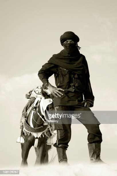 ベルベル人の男性のポートレート、サハラ砂漠