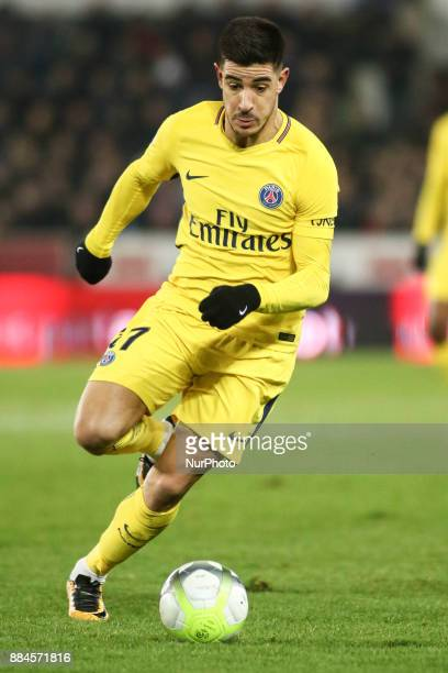 Berchiche Yuri 17 of PSG during the French L1 football match between Strasbourg and Paris SaintGermain at the Meinau Stadium in Strasbourg eastern...