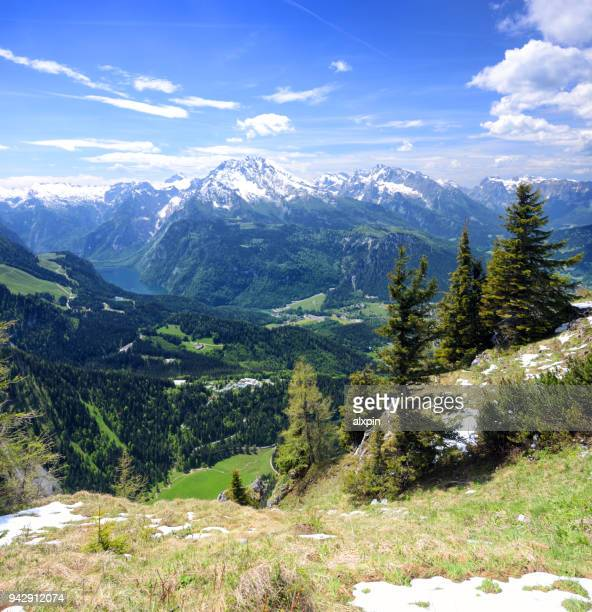 berchtesgaden alps - berchtesgaden alps stock photos and pictures