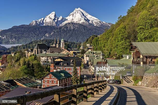berchtesgaden - bavaria - germany - cityview - berchtesgaden stock photos and pictures