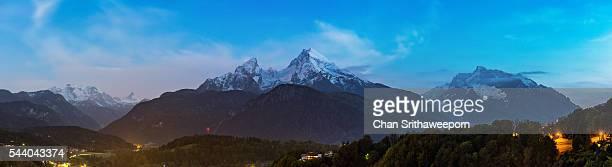 Berchtesgaden city and The Watzman