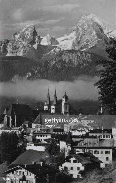 Berchtesgaden City view with the watzmann 1935 Photograph