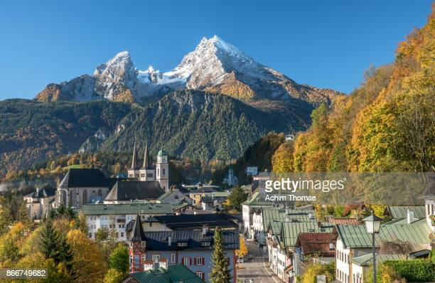 Berchtesgaden in autumn, Bavaria, Germany Europe