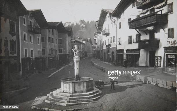 Berchtesgaden Marketplace About 1910 Photograph