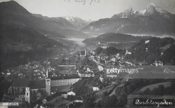 Berchtesgaden Panorama from the top About 1910 Photograph