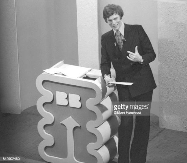 Berend Boudewijn actor director and TV presenter on the set of his game show The BB Kwis Hilversum Netherlands 1974