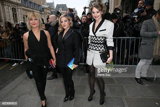 Berengere KriefMarilou Berry and Deborah franois attend the Jean Paul Gaultier Haute Couture Spring Summer 2017 show as part of Paris Fashion Week...