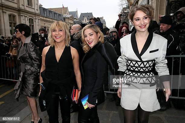 Berengere KriefMarilou Berry and Deborah Franois attends the Jean Paul Gaultier Haute Couture Spring Summer 2017 show as part of Paris Fashion Week...