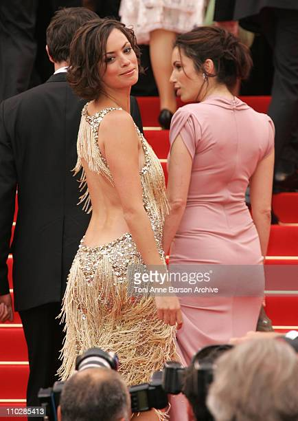 Berenice Bejo and Aure Atika during 2006 Cannes Film Festival Il Caimano Premiere at Palais des Festival in Cannes France