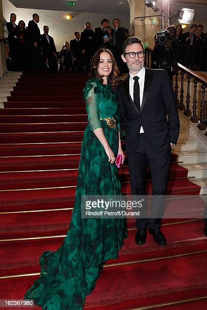 Berenice Bejo and Michel Hazanavicius arrive to attend the Cesar Film Awards 2013 at Theatre du Chatelet on February 22 2013 in Paris France