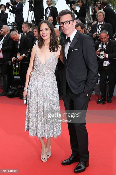 Berenice Bejo and Michel Hazanavicius attend a screening of 'The BFG' at the annual 69th Cannes Film Festival at Palais des Festivals on May 14 2016...