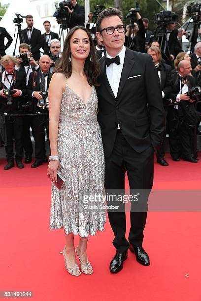 Berenice Bejo and Michel Hazanavicius attend the The BFG Premiere during the annual 69th Cannes Film Festival at the Palais des Festivals on May 14...