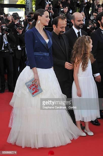 Berenice Bejo, Asghar Farhadi, Jeanne Jestin, and Ali Mosaffa attend 'Le Passe'' premiere during the 66th Cannes International Film Festival.