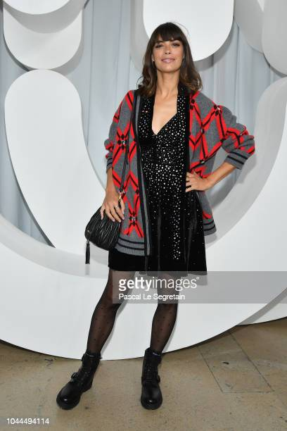 Berenice Bejo attends the Miu Miu show as part of the Paris Fashion Week Womenswear Spring/Summer 2019 on October 2 2018 in Paris France