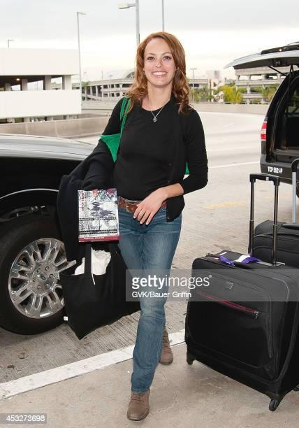 Berenice Bejo is seen at Los Angeles International Airport on February 06 2012 in Los Angeles California
