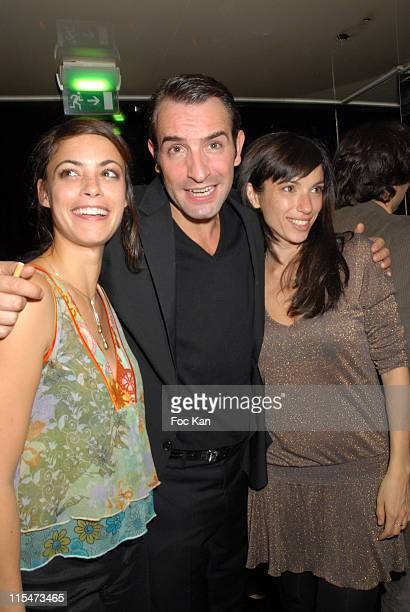 """Berenice Bejo, Jean Dujardin and Aure Atika during """"""""OSS117 Le Caire Nid D'Espions"""""""" DVD Launch Party at VIP Room Club in Paris, France."""