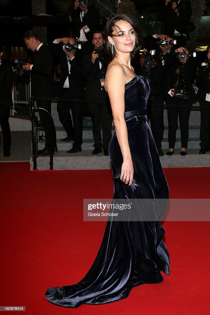 Berenice Bejo leaves 'The Search' premiere during the 67th Annual Cannes Film Festival on May 21, 2014 in Cannes, France.