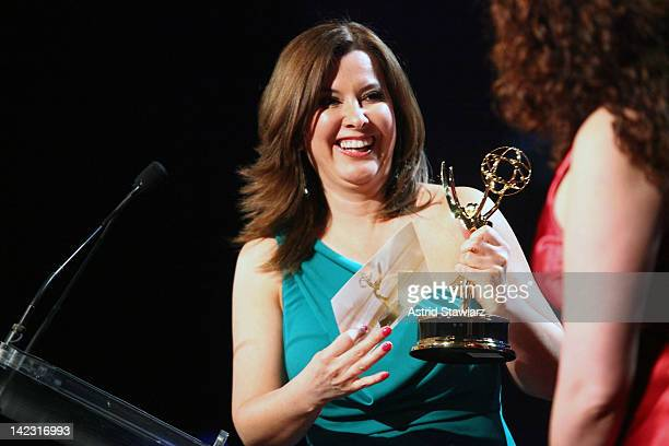 Berenice Gartner attends the 55th Annual New York Emmy Awards gala at the Marriott Marquis Times Square on April 1 2012 in New York City