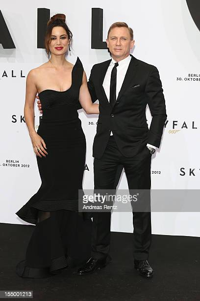 Berenice Marlohe and Daniel Craig attend the 'Skyfall' Germany premiere on October 30 2012 in Berlin Germany