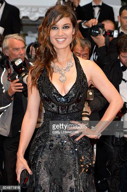 Berenice Marlohe arrives at the Amour Premiere during the 65th Cannes Film Festival.