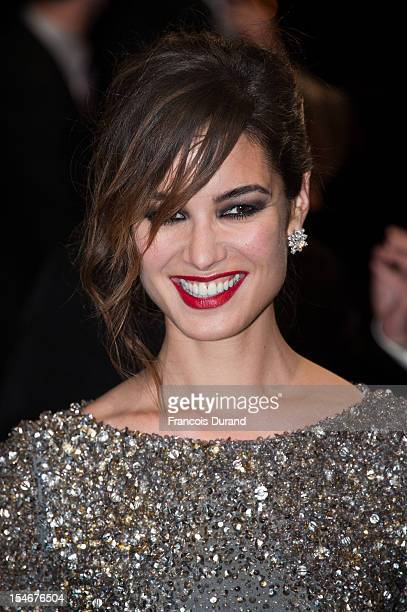 Berenice Marlohe arrives at the Paris Premiere of the new James Bond film 'Skyfall' at Cinema UGC Normandie on October 24 2012 in Paris France