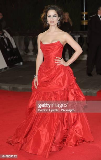 Berenice Marlohe arrives at the Royal World premiere of Skyfall at the Royal Albert Hall London