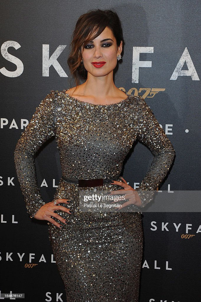 Berenice Marlohe attends the premiere of the latest James Bond 'Skyfall' at Cinema UGC Normandie on October 24, 2012 in Paris, France.
