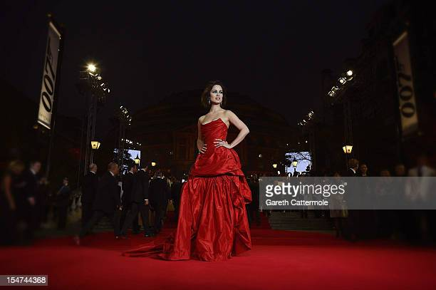 Berenice Marlohe attends the Royal World Premiere of 'Skyfall' at the Royal Albert Hall on October 23 2012 in London England