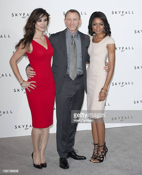 Berenice Marlohe Daniel Craig And Naomie Harris At A Photocall For The New James Bond Film Skyfall In London