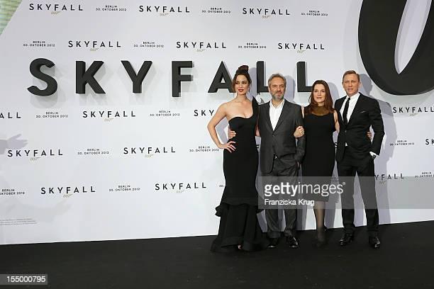 Berenice Marlohe Sam Mendes Barbara Broccoli and Daniel Craig attend the 'Skyfall' Germany Premiere at Theater am Potsdamer Platz on October 30 2012...
