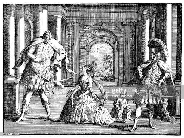 'Berenstat, Cuzzoni and Senesino' c1725. The Italian opera singers Gaetano Berenstadt , Francesca Cuzzoni Sandoni and Francesco Bernardi, known as...