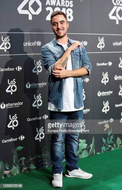 Beret attends the 40 Principales Awards nominated dinner at Florida Retiro on September 13 2018 in Madrid Spain