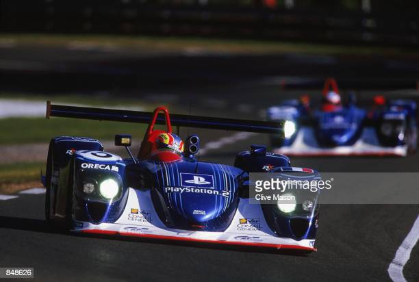 Beretta Lamy and Comas driving the Team ORECA DallaraJudd LMP to fifth place in the during the Le Mans 24 hour Endurance Race at the Circuit de la...