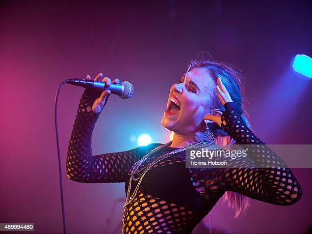 Berg of Phases performs at PHASES album release show at The Lyric Theatre on September 24 2015 in Los Angeles California