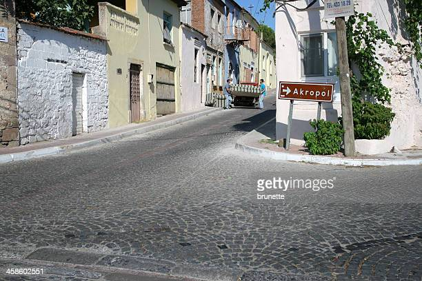 bergama street - bergama stock pictures, royalty-free photos & images