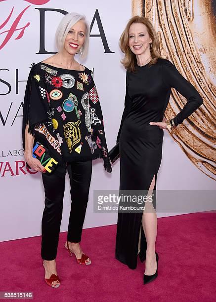 Bergdorf Goodman Creative Director Linda Fargo and Monica Rich Kosann attend the 2016 CFDA Fashion Awards at the Hammerstein Ballroom on June 6 2016...