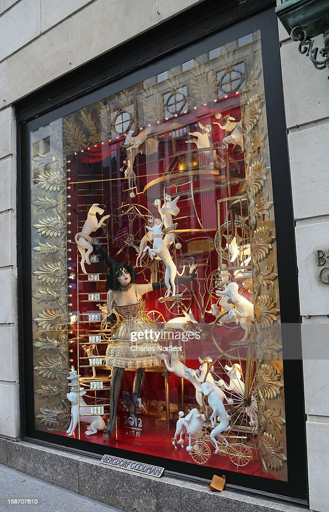 Bergdorf Goodman's holiday window display on December 24, 2012 in New York City.