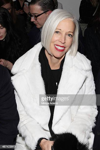 Bergdorf Goodman's Linda Fargo attends the Dion Lee fashion show during MADE Fashion Week Fall 2014 at Milk Studios on February 6 2014 in New York...